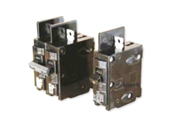 Figure 1. Circuit breakers are available in a number of configurations, including single-pole and double-pole breakers.