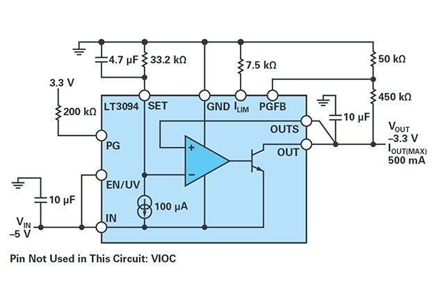 -3.3 V output low noise solution.