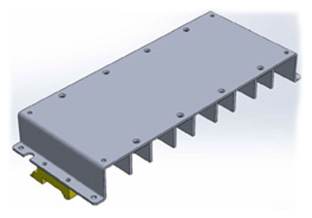 F3-HSA heatsink assembly with DIN-rail clips