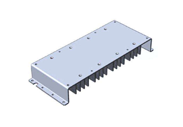 The F3-HSA heatsink's fins enable convection cooling.