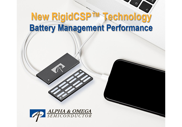 Alpha and Omega Semi Introduces New RigidCSP Technology for Battery Management Applications Figure