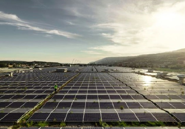 The world's largest in-stadium solar power plant on the roof of the Tissot Arena in Biel. Image used courtesy of ABB.