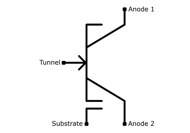 Bizen uses Zener quantum tunnel mechanics to provide a different way to isolate the base well called the 'Tunnel' terminal.