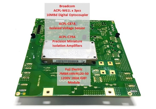 The power electronics board