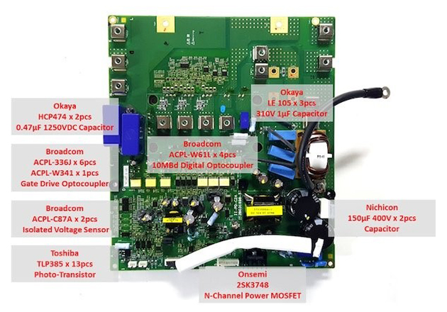 Another view of the power electronics board.