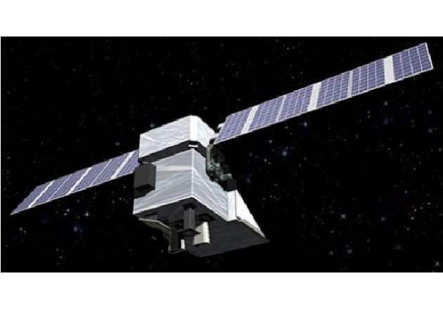 Depiction of the MethaneSAT satellite in space. Image used courtesy of MethaneSAT