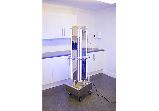 UV-C Decontamination Trolley. Image used courtesy of UV Light Technology