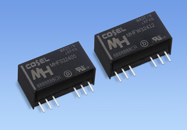 Members of the MHF series of single and dual output DC/DC converters.