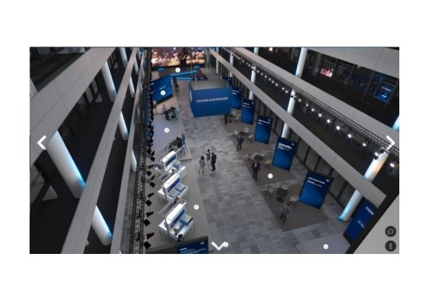 The virtual setup for the 2021 Demystifying EMC conference. (Image via Rohde & Schwarz)