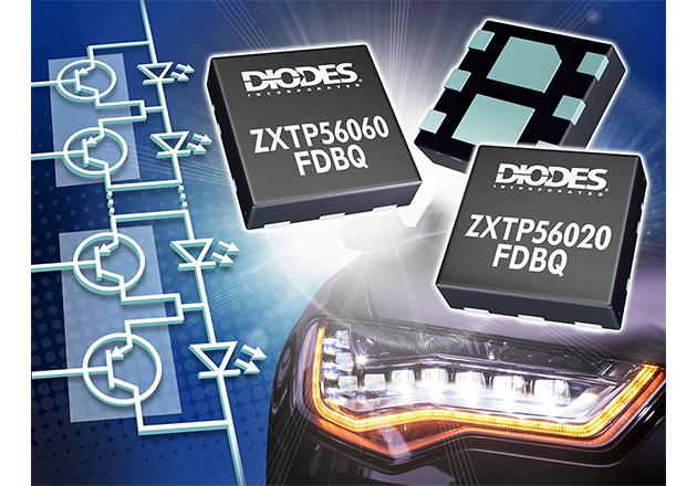 Diodes Incorporated Optimizes PNP Transistors for Automotive Matrix LED Lighting Figure