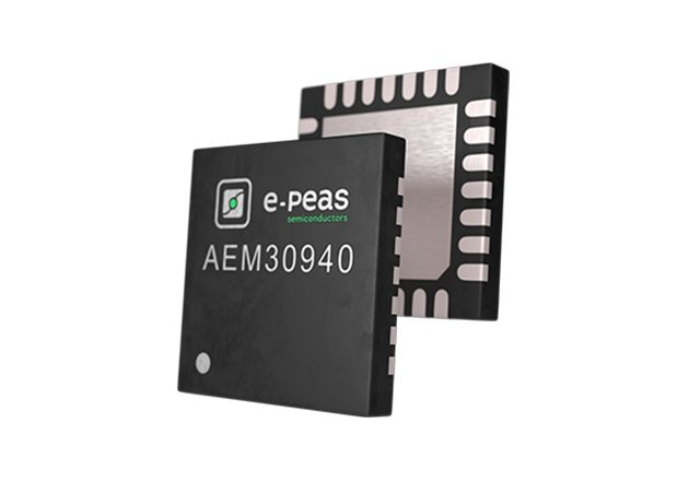 E-PEAS' AEM30940 integrates an ultra-low-power boost converter to charge a storage element such as a supercapacitor.