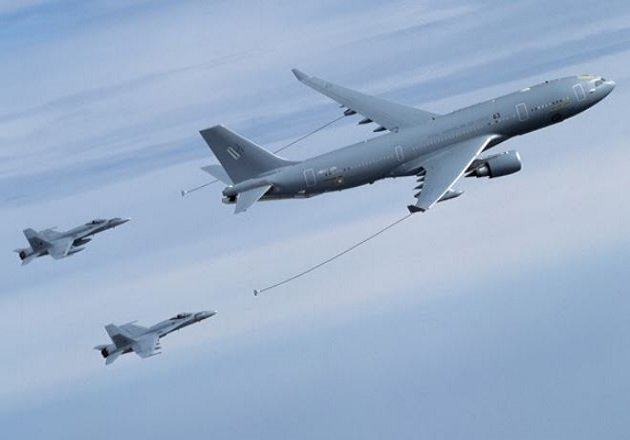 Cobham Mission Systems offers air-to-air refueling systems for the military aircraft defense market. Image courtesy of Cobham Mission Systems