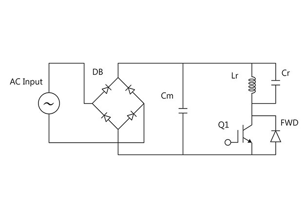 A single ended parallel resonance (SEPR) circuit is typically used for voltage-resonant circuits.