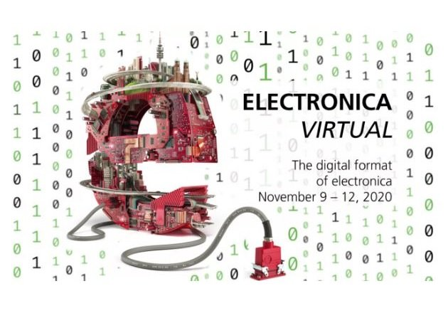 Electronica 2020 will be held virtually from Nov. 9 to Nov. 12. (Image via Messe München GmbH)