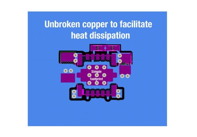 Figure 7: Easy layout with continuous copper for good thermal design.