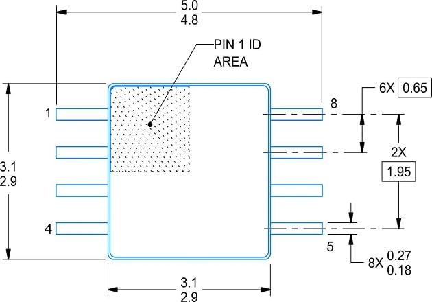 Figure 3: The HVSSOP dimensions