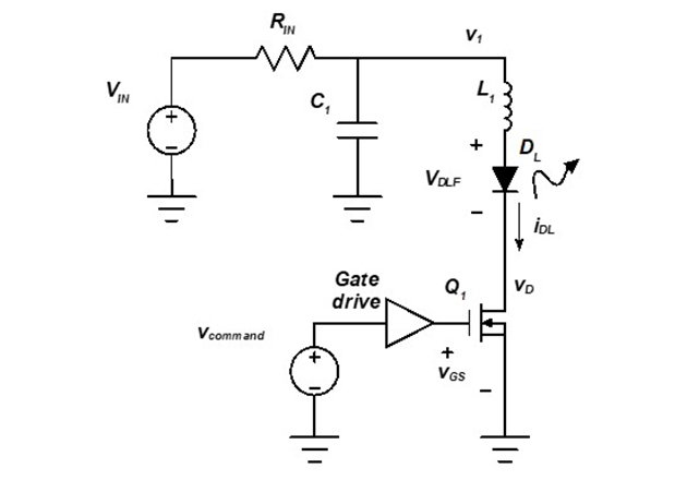 Simplified schematic of the laser driver