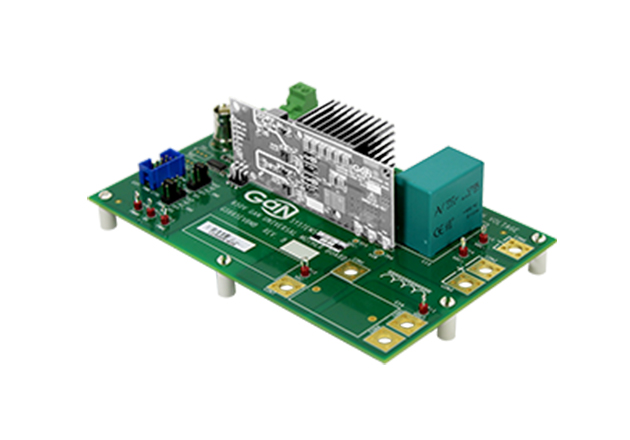 The GS665MV-EVB Universal Mother Board with one of the evaluation boards plugged in