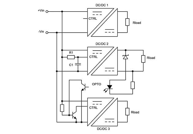 Example DC/DC converter sequencing scheme