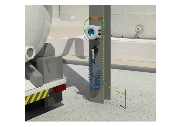 Figure 4. An example of equipment to ground a tank truck. This setup is the e Earth-Rite II RTR. Image courtesy of Newson Gale.