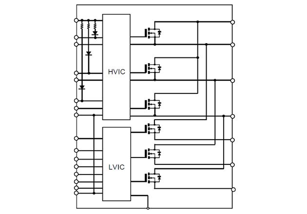 SiC DIPIPM internal block diagram