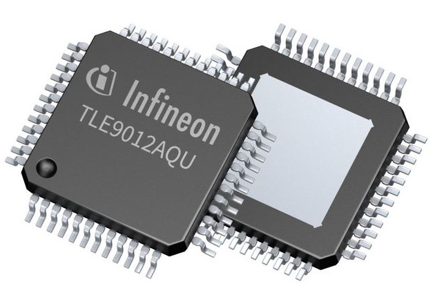 The TLE9012AQU. Image Courtesy of Infineon Technologies