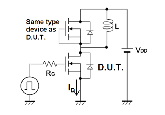 Simplified DPT Setup. (source: Fig 3-1: SCT2080KE Datasheet - 2015 ROHM Co., Ltd.)
