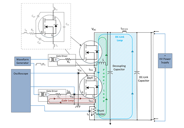 DPT Diagram with device and system parasitics.