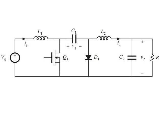 Figure 2. Circuit diagram of the Ćuk converter