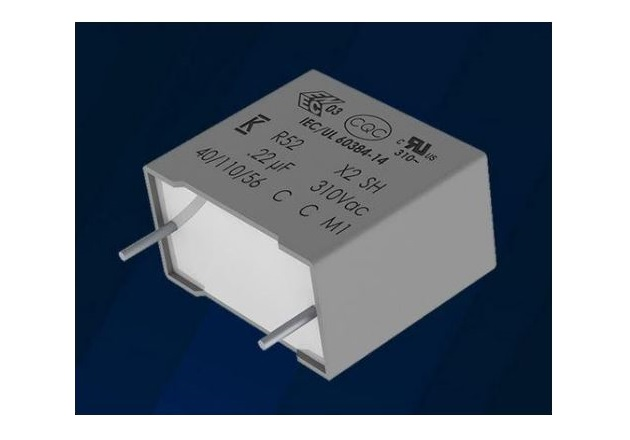 The R52 series of X2 EMI Suppression Capacitors. Image courtesy of Kemet
