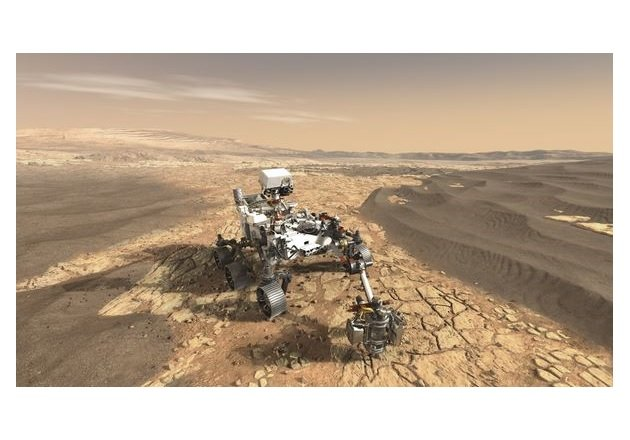 The Mars Perseverance Rover will land on Mars approximately during February 2021. Image used courtesy of NASA JPL-Cal tech.