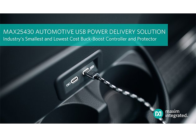 Maxim's Automotive Buck-Boost Controller Enables Automotive USB Power Delivery Ports Figure