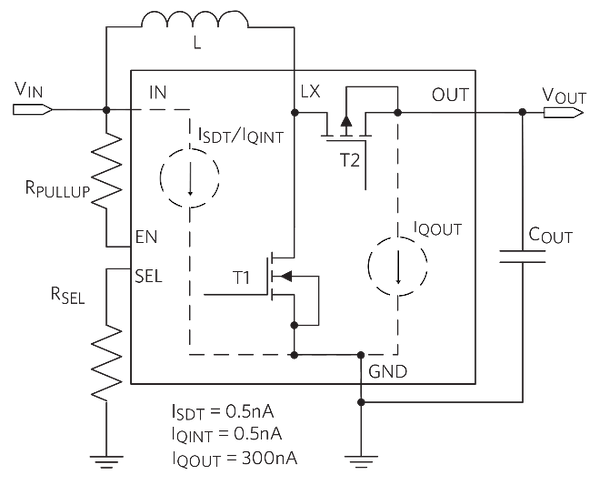 Boost Converter with Lower Shutdown and Quiescent Currents