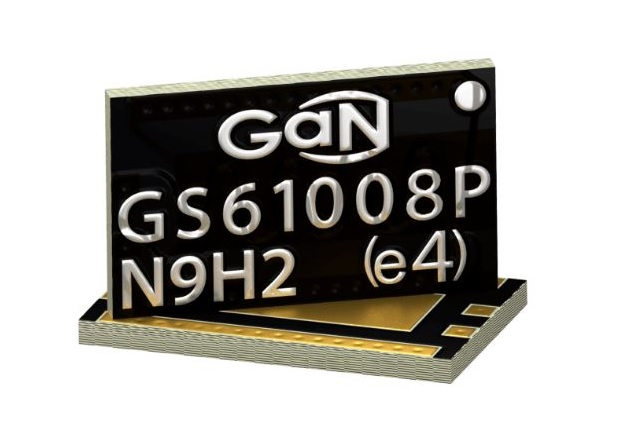 The GS61008P is able to provide high efficiency during power switching through easily controllable fall and rise times. Image used courtesy of GaN Systems.