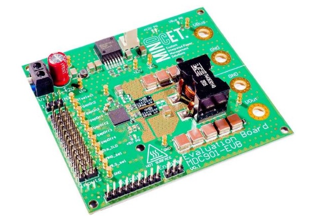 MinDCet's EVB features a 100V input step-down converter that also provides a 30A output current. Image used courtesy of MinDCet.
