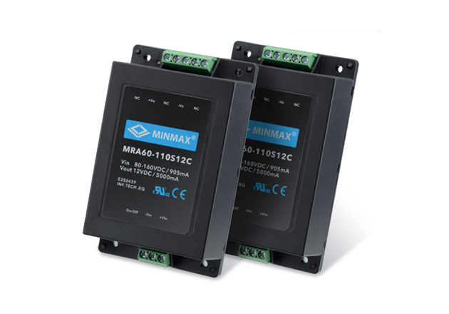 Minmax's MRA60C series of DC-DC power modules.
