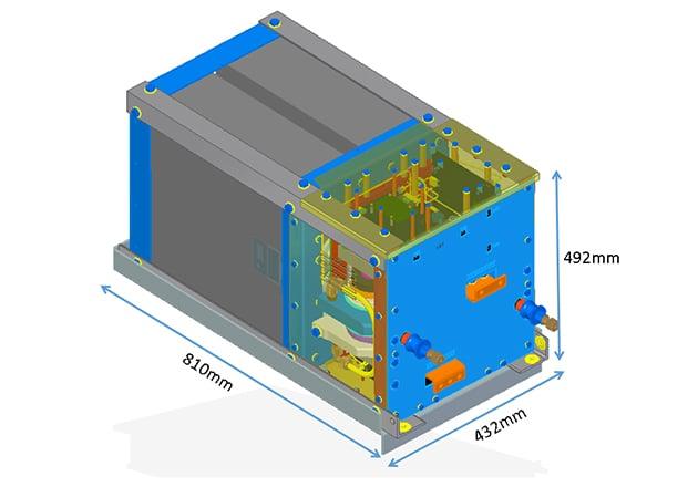 CAD Model of the full bridge sub-module