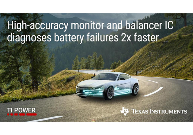 New High-Accuracy Battery Monitor and Balancer from TI Figure