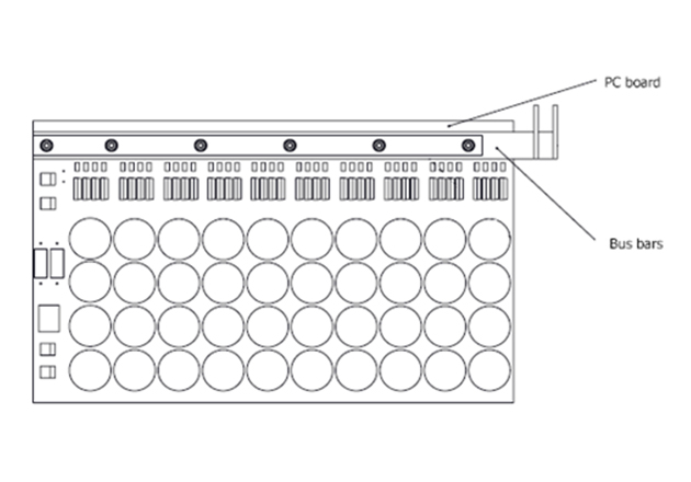 Layout of the power board.