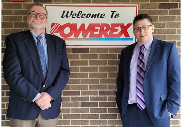 Former CEO of Powerex, John Hall (left), and current CEO, Joe Wolf (right)