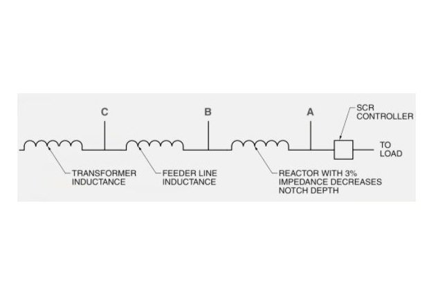 Figure 3. A reactor can be added in series with an SCR power source to reduce notching.