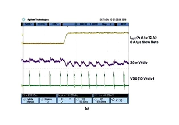 Figure 2: (c) switching waveforms during the load step.