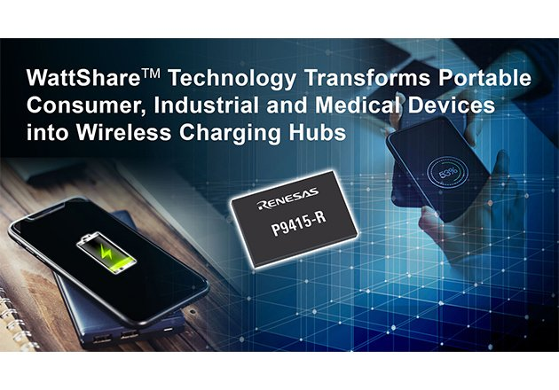 Renesas Expands Wireless Power Portfolio with 15W Wireless Power P9415-R Receiver Figure