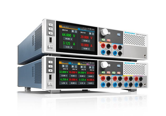 The R&S NGP800 power supplies boost efficiency with up to four independent channels.