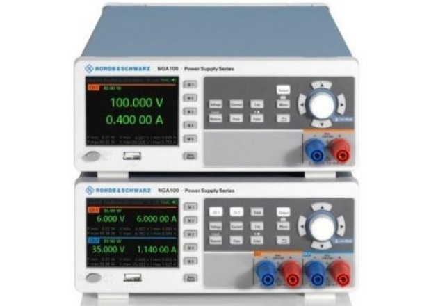 Dual and single output members of the R&S NGA 100 series. Image courtesy of R&S