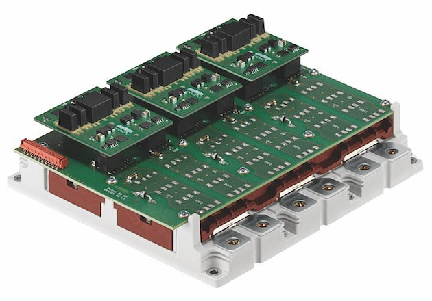Figure 9: Gate drive adapter board developed for the SKiM63 and the SKiM93