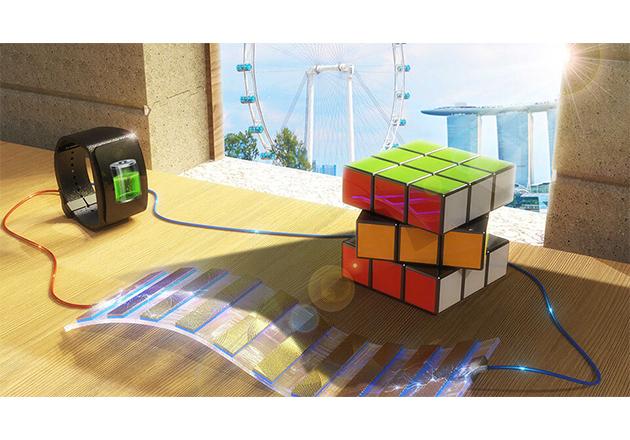 The NUS team's shadow-effect energy generator.