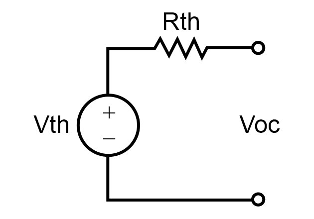 Thevenin's equivalent circuit with load removed
