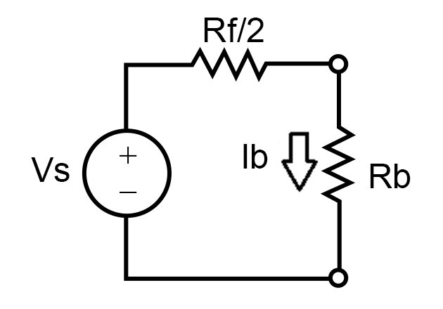 Thevenin's equivalent circuit for touch voltage
