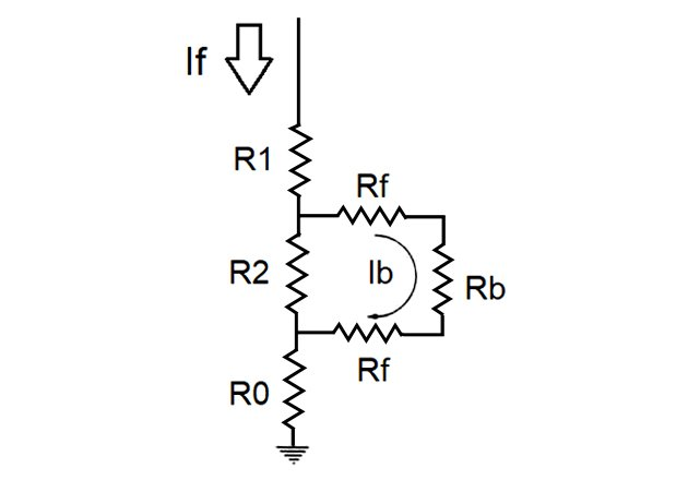 Equivalent network for step voltage
